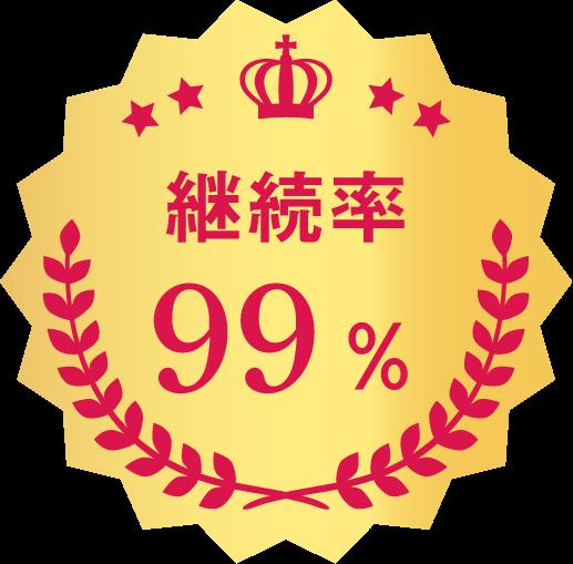 継続率99%